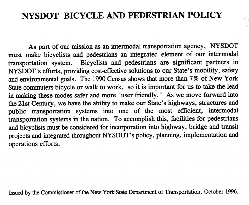 1996 Bicycle & Pedestrian Policy